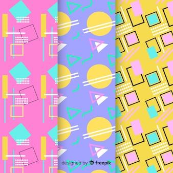 Coleção de padrão de conceito de memphis