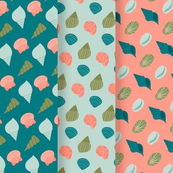 Coleção de padrão de concha perfeita