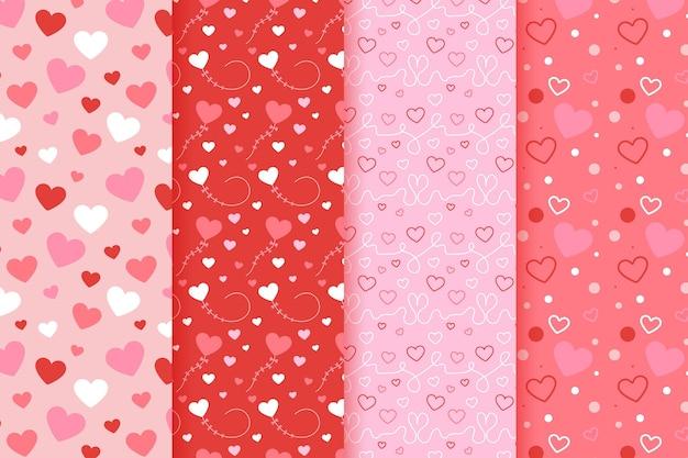 Coleção de padrão de coração