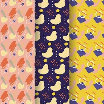Coleção de padrão de desenho abstrato