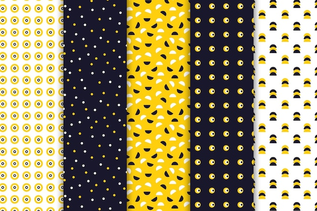 Coleção de padrão de desenho geométrico