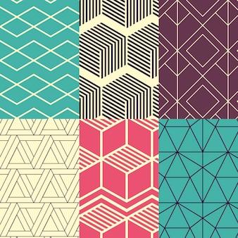 Coleção de padrão de design minimalista Vetor grátis