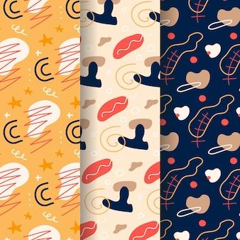 Coleção de padrão de estilo abstrato