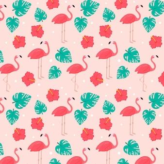 Coleção de padrão de flamingo