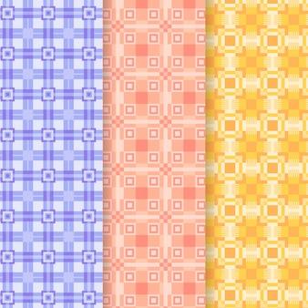 Coleção de padrão de guingão pastel
