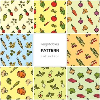 Coleção de padrão de legumes