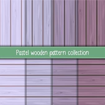 Coleção de padrão de madeira sem costura lavanda chique gasto