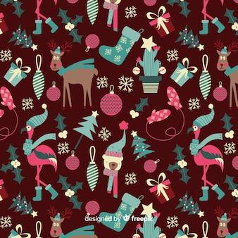 Coleção de padrão de natal engraçado
