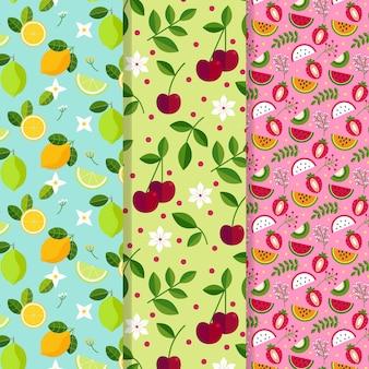Coleção de padrão de primavera de design plano