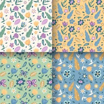 Coleção de padrão de primavera plana