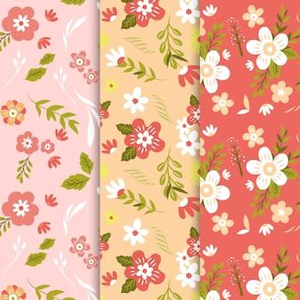 Coleção de padrão de primavera