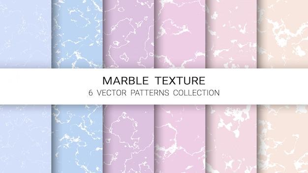 Coleção de padrão de textura de mármore