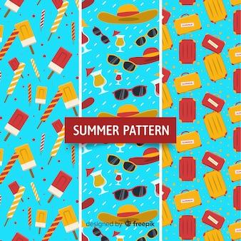 Coleção de padrão de verão