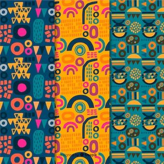 Coleção de padrão desenhado mão abstrata idéia de verão