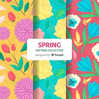 Coleção de padrão floral primavera