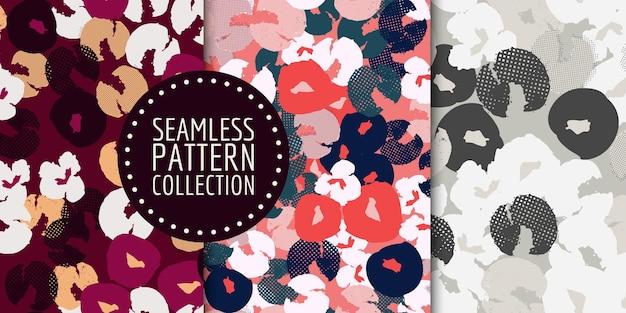 Coleção de padrão floral sem costura