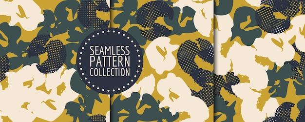Coleção de padrão floral sem emenda. desenho vetorial para papel, tecido, decoração de interiores e capa
