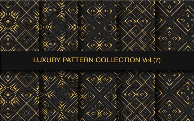 Coleção de padrão geométrico de luxo ouro