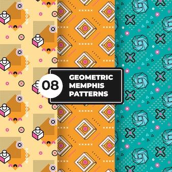 Coleção de padrão geométrico de memphis