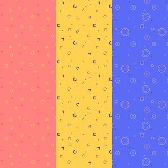 Coleção de padrão geométrico mínimo
