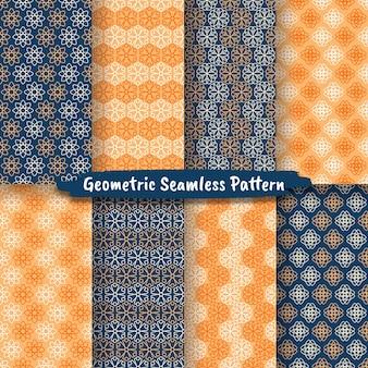Coleção de padrão geométrico sem emenda, design gráfico hexagonal geométrico abstrato