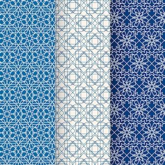 Coleção de padrão linear árabe