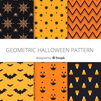 Coleção de padrão moderno de halloween