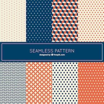 Coleção de padrão no estilo geométrico
