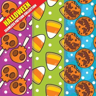 Coleção de padrão sem emenda de halloween