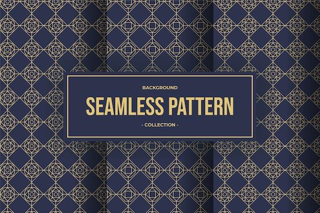 Coleção de padrão sem emenda de linha geométrica elegante