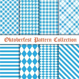 Coleção de padrão sem emenda de oktoberfest