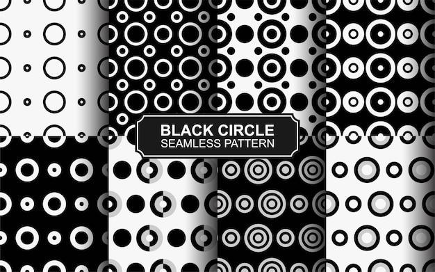 Coleção de padrão sem emenda de polkadot preto e branco