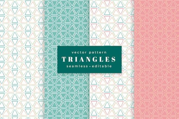 Coleção de padrão sem emenda de triângulos geométricos