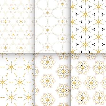 Coleção de padrão sem emenda preto e amarelo.