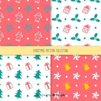 Coleção de padrão simples de natal