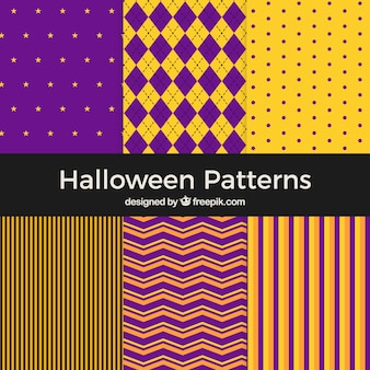 Coleção de padrões abstratos de halloween