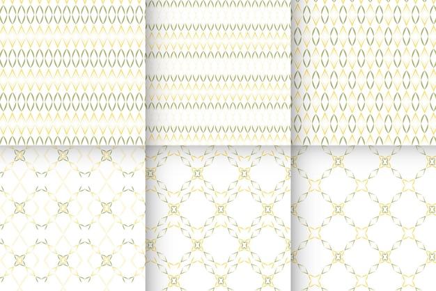 Coleção de padrões arredondados