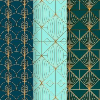 Coleção de padrões art déco