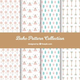Coleção de padrões boho