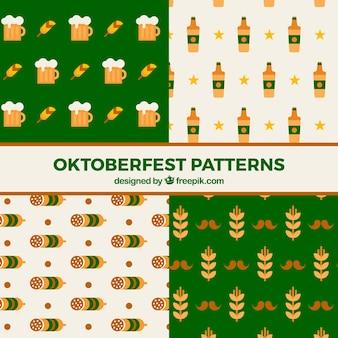 Coleção de padrões com produtos mais oktoberfest