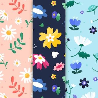 Coleção de padrões criativos de primavera