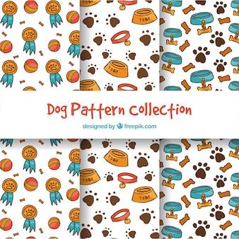 Coleção de padrões de cães engraçados