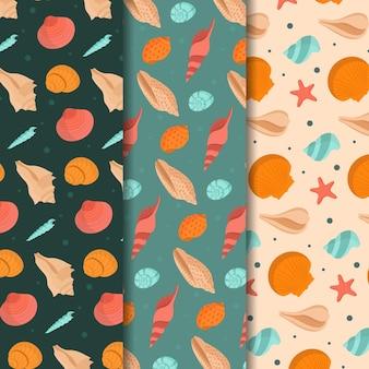 Coleção de padrões de conchas perfeitas