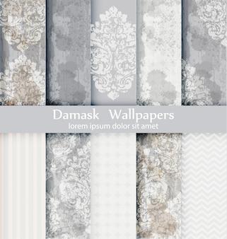 Coleção de padrões de damasco