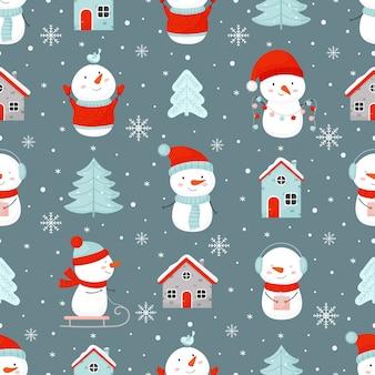 Coleção de padrões de decoração de natal