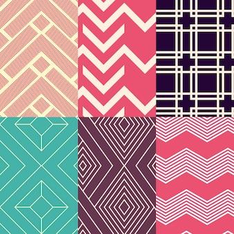 Coleção de padrões de estilo minimalista Vetor grátis