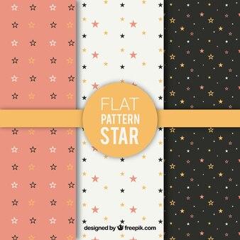 Coleção de padrões de estrelas planas