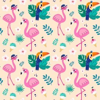 Coleção de padrões de flamingo