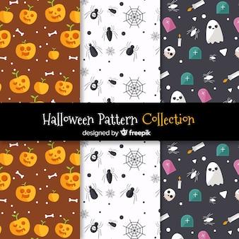 Coleção de padrões de halloween
