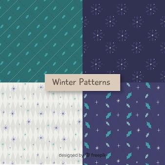 Coleção de padrões de inverno